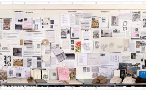 "Layout for the publication ""Landscape as Wunderkammer"""