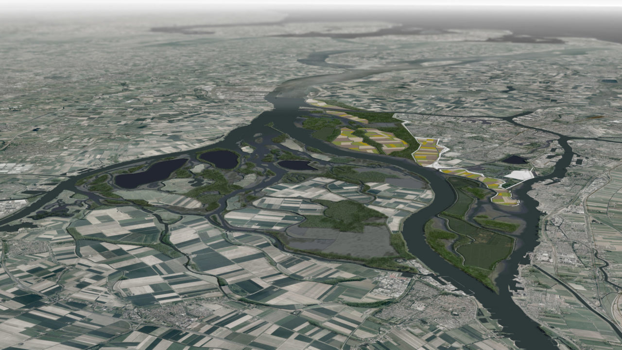 NL12: Rising Waters, Shifting Lands: The design of a changing Landscape for the island of Dordrecht in the Rhine Meuse Delta of Holland