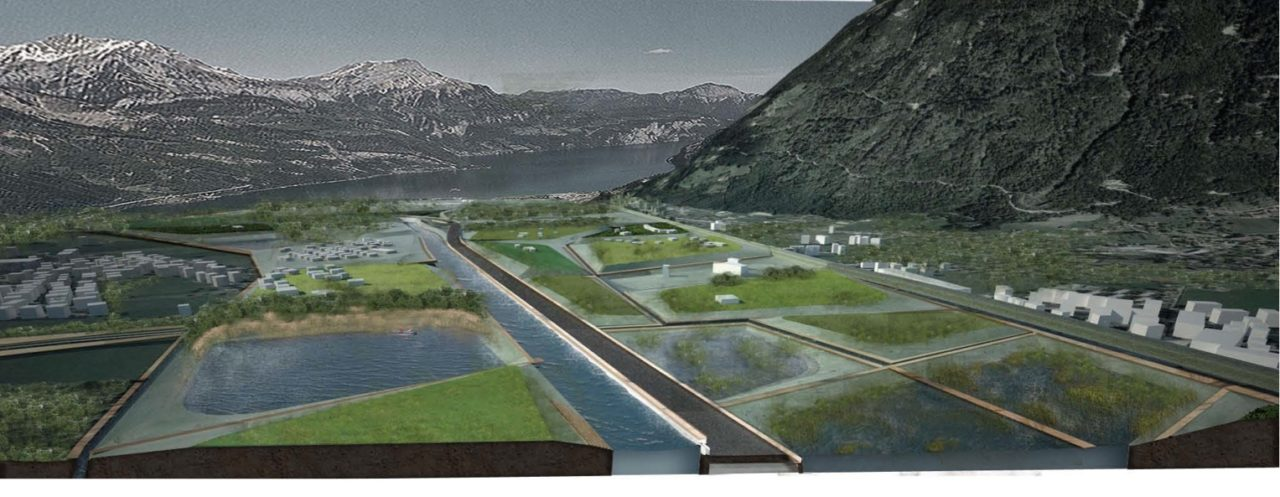 NL19: Erstfeld Infrastructures – Rail and Flood, Landscape Design Investigations of the MAS LA 2012/13