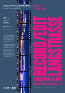 ACTION Langstrasse, Plakat