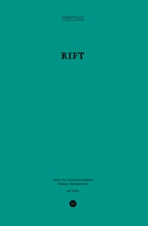 Rift – 7.5 Views on the Jordan Valley. Pamphlet 22