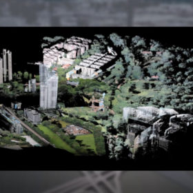 Laser-scanned point-cloud model of the Green Corridor in Singapore © Philipp Urech at the ETH Chair of Prof. Christophe Girot, FCL2 Module for Ecosystem Services in Urban Environments. Visualised in Singapore Views.