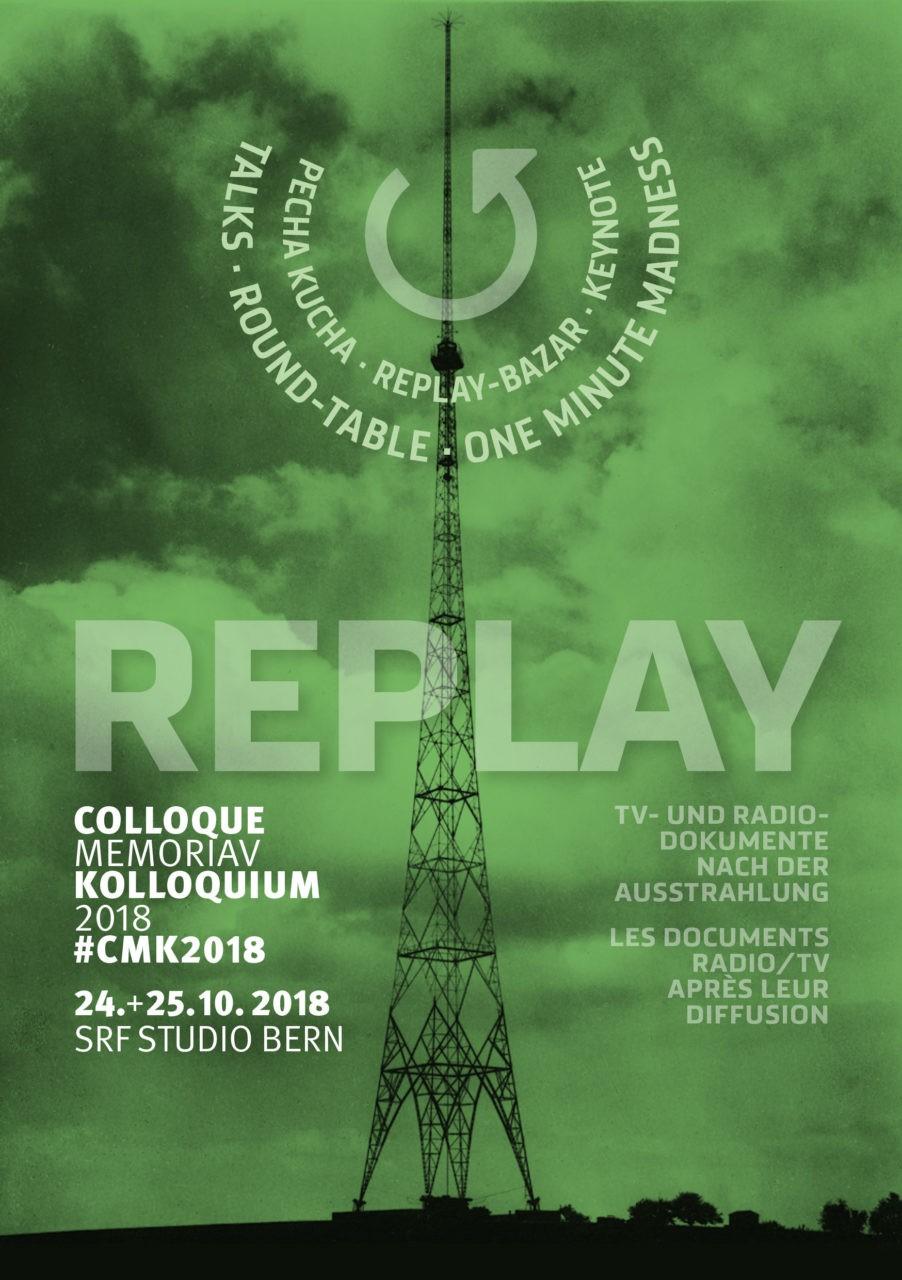 Flyer: Replay. TV- und Radiodokumente nach der Ausstrahlung