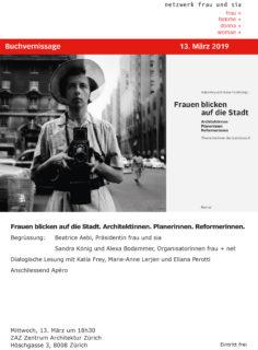 Frauen blicken auf die Stadt: Flyer Buchvernissage