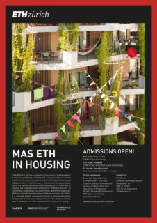 Plakat MAS ETH in Housing