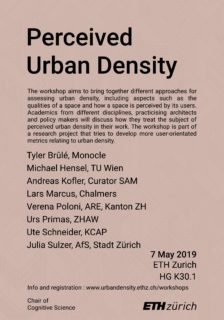 Poster Workshop Perceived Urban Density
