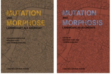 Buchcover Mutation und Morphose / Mutation and Morphosis, Professur Günther Vogt
