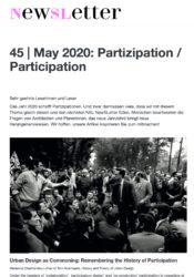 45 | Mai 2020: Partizipation / Participation