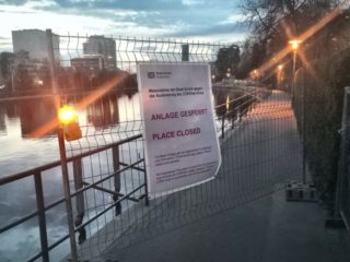 Urban park closed due to the COVID-19 pandemic in the Canton of Zürich, Switzerland © Marcelo Galleguillos, ETH Zurich