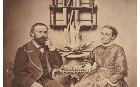 Johanna and Agostino Garbald in Castasegna / Calotype 1861 @ State Archive Chur, Fondazione Garbald