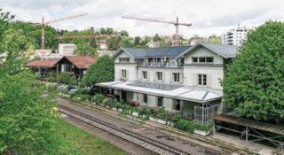 Ehemaliger Bahnhof Oberstadt, Baden. Bild: AZ / san