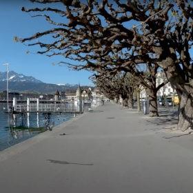 Filmstill aus: Lockdown Lucerne Switzerland 2020 © Elmar Bossard