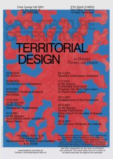 Architecture of Territory Territorial Design Topalovic Poster 2021